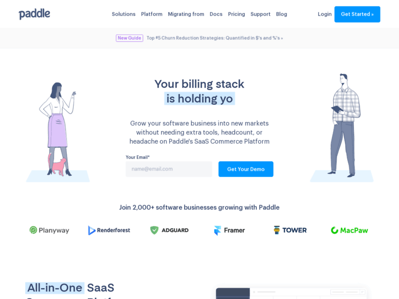 Paddle — Sell Software Online with Paddle's SaaS Commerce Platform